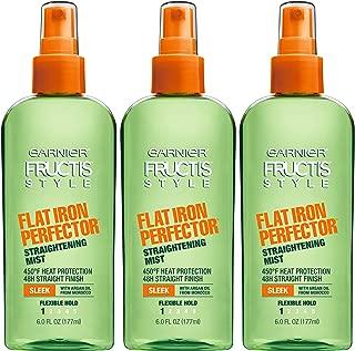 Garnier Fructis Style Flat Iron Perfector Hair Straightening Mist, 6 Ounce Bottle, 3 Count