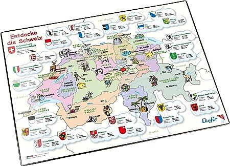 La Svizzera Cartina.Laufer Sottomano Da Scrivania Con Cartina Geografica Scoprire La Svizzera Amazon It Cancelleria E Prodotti Per Ufficio