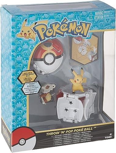 Ensemble de 2 Pokéballs et 2 figurines Pokémon - Pikachu et Osselait