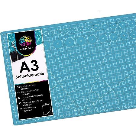 Victor Tapis de d/écoupe 3 plis et auto-cicatrisant bleu 30x45cm A3