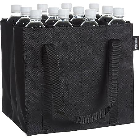 Amazon Basics - Borsa portabottiglie a 12 scomparti, per bottiglie da 0,75 l, Nero