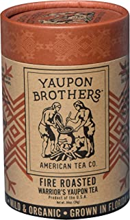 Fire Roasted Warrior's Yaupon Tea – Yaupon Brothers Holly Tea – Wild-Crafted, Naturally Caffeinated – Antioxidant-Rich – Florida Grown Superfood – 16 Natural Fiber Tea Bags