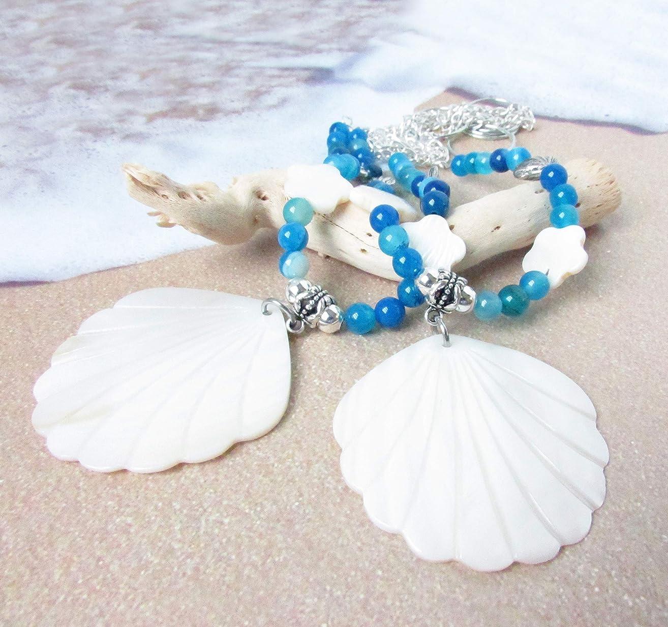 Tropical Drapery Tiebacks with White Scallop Shell Pendants
