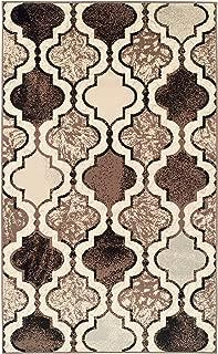 Superior Viking Area Rug, Bold Trellis Vintage Pattern, 9' x 12', Ivory