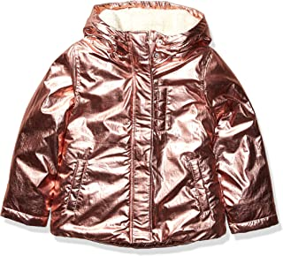 Marca Amazon - Spotted Zebra Warm Puffer Coat Niñas