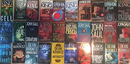 Masters of Horror Collection by Stephen King, Dean Koontz, and John Saul 30 Book Set