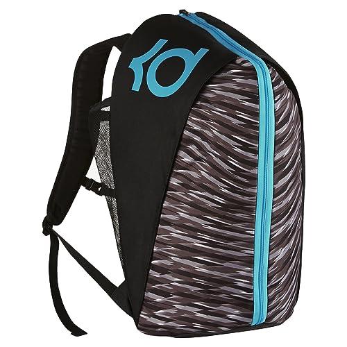 promo code e23de cdec7 Nike Mens KD Max Air VIII Basketball Backpack Black Blue Lagoon