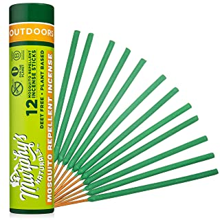 Murphys Naturals Mosquito Repellent Incense Sticks | Made with Plant Based Ingredients | 2.5 Hour Protection | 12 Sticks per Tube