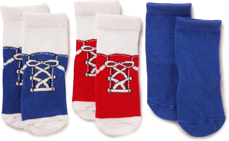 Luvable Friends 3 Pack Shoe Socks, Blue