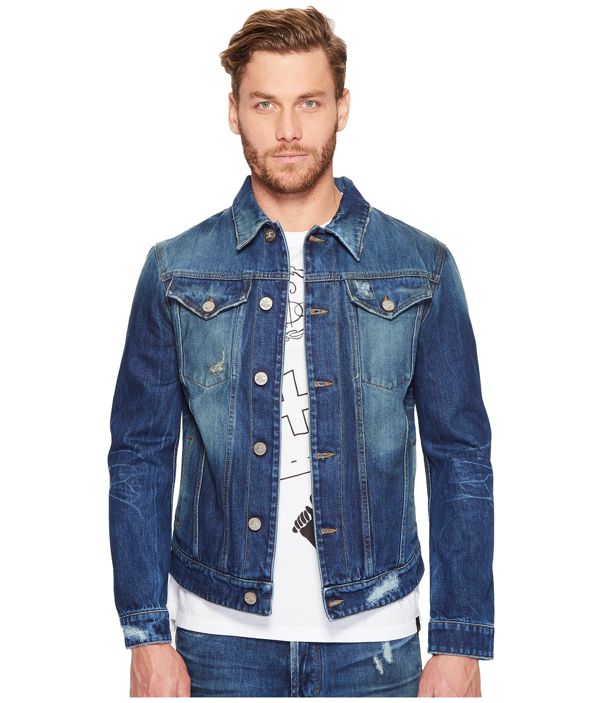 Vivienne Westwood Anglomania Lee D. Ace Classic Jacket In Blue Denim cdf00f1dc