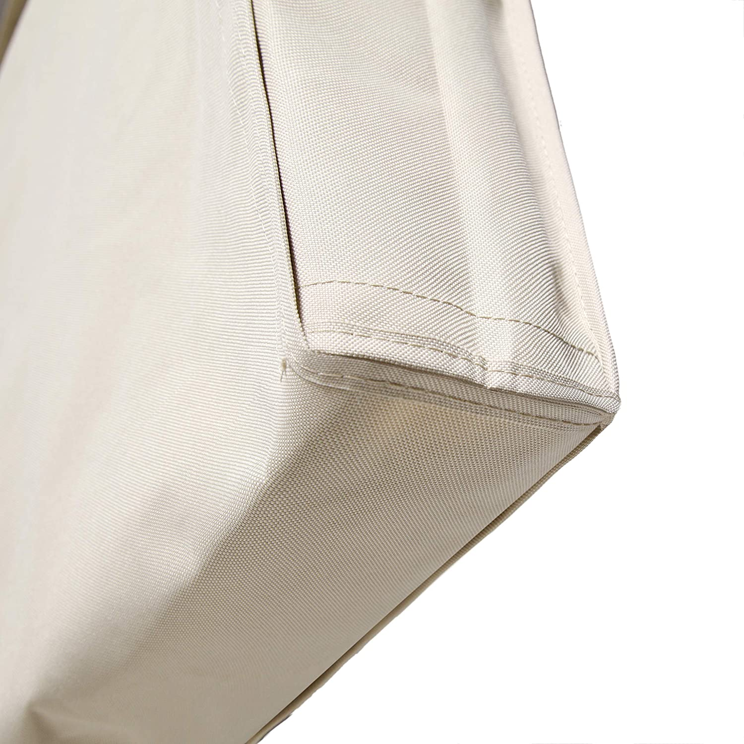 Lish Outdoor TV Cover with Front Flap Weatherproof Material 58-60, Beige