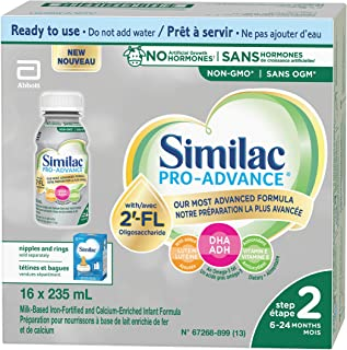 Similac Pro-Advance® Step 2 Baby Formula, 6-24 months, with 2'-FL. Immune Support Innovation: 2'-FL, Ready-to-Feed, 16x235mL
