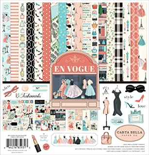 Carta Bella Paper Company CBEV103016 En Vogue 系列套件纸张,粉色,*,青色,黑色