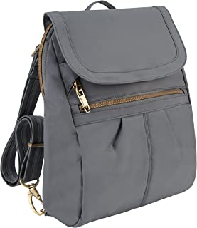 Travelon Anti-Theft Signature Slim Backpack, Pewter