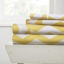 Becky Cameron 4 Piece Sheet Set Patterned, Full, Arrow Yellow