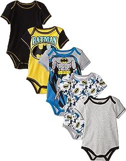 Warner Bros. Baby Boys' Batman Bodysuit (Pack of Five)