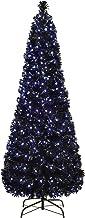 WeRChristmas Pre-Lit Slim Christmas Tree with 290 Fibre Optic Lights, Blue/White, 7 feet/2.1 m