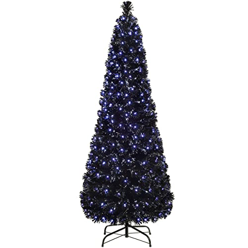 Artificial Christmas Trees Amazon Uk: Pre Lit Slim Christmas Tree: Amazon.co.uk
