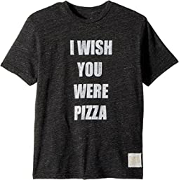 The Original Retro Brand Kids - Wish You Were Pizza Short Sleeve Tri-Blend Tee (Big Kids)