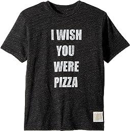 Wish You Were Pizza Short Sleeve Tri-Blend Tee (Big Kids)