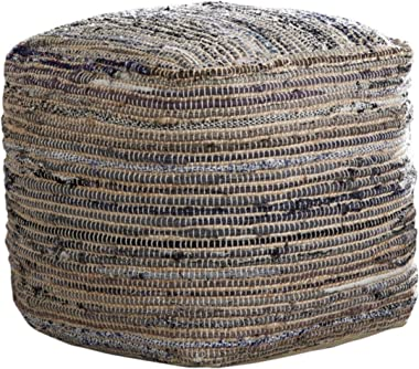 Signature Design by Ashley Absalom Hemp Pouf, 16 x 16 Inches, Multicolored