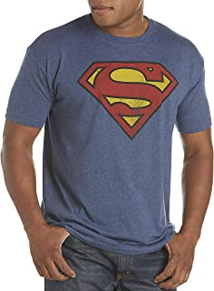 by DXL Big and Tall Classic Superman Logo Graphic Tee
