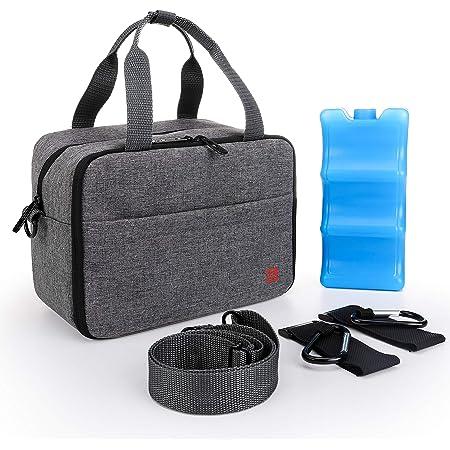 ALLCAMP Breast Milk Cooler Bag with Contoured Ice Pack Fits 6 Bottle,Baby Bottles Tote Bag of Daycare,Breastmilk Baby Bottle Cooler & Travel Bag (Grey)