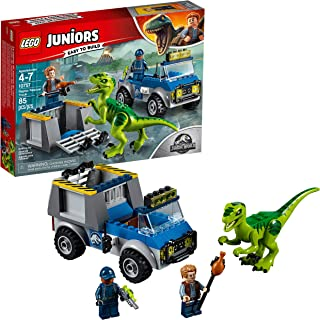 LEGO Juniors/4+ Jurassic World Raptor Rescue Truck 10757 Building Kit (85 Pieces)