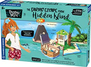 Thames & Kosmos Pepper Mint in The Daring Escape from Hidden Island Story-Based Science Experiment & Model Building Kit & Playset, 7 Building Projects & Experiments in Solar Energy & Power