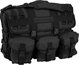 Mercury Tactical Gear Code Alpha Computer Messenger Bag with Molle Pouches, Basic, Black