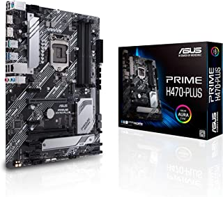ASUS Prime H470-PLUS/CSM LGA1200 (Intel 10th Gen) ATX Commercial Motherboard (8 Power Stages, HDMI, DisplayPort, Dual M.2, Intel LAN, USB 3.2 Gen 2 Type-C, Thunderbolt 3 Support)