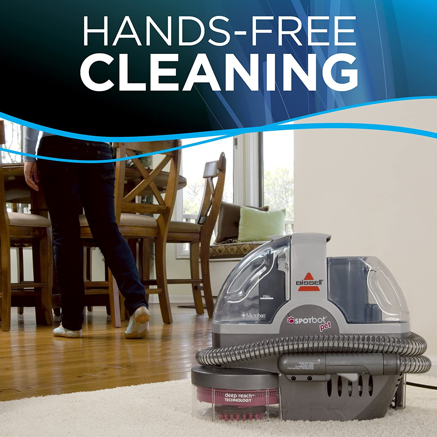 SpotBot Pet handsfree Spot and Stain Cleaner with Deep Reach Technology 33N8A