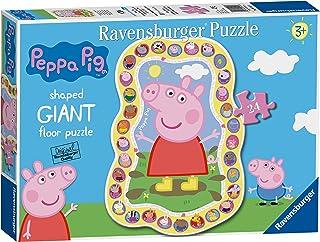 Ravensburger 055456 Puzzle Peppa Pig, Giant shaped 24 Piezas, Rompecabezas para Niños y Niñas, Edad Recomandada 3+