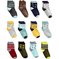 Baby and Toddler Boys' 12-Pack Sock Crew