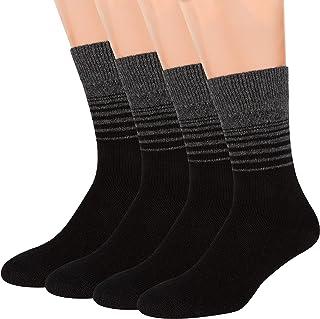 Air Wool Socks, 2 packs Merino Wool Organic Cotton Rich Mens Black Dress Socks