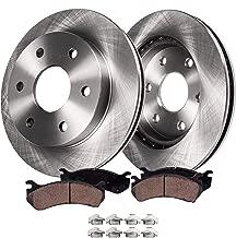Detroit Axle - Complete Rear Brake Kit Rotor Set & Brake Kit Pads w/Clips Hardware Kit Premium GRADE for 2005-2011 Ford F-150 - [2006-2008 Lincoln Mark LT]