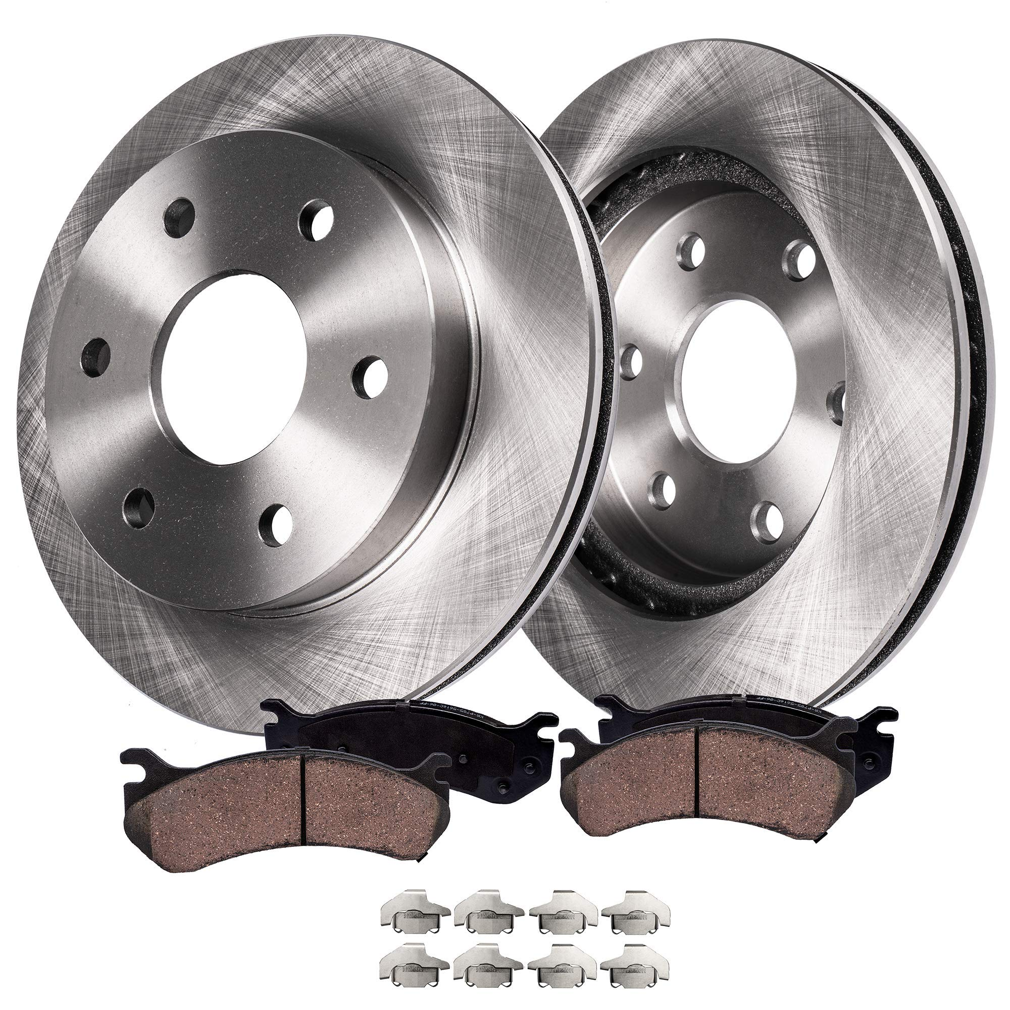 See Desc. OE Replacement Rotors w//Metallic Pads F+R 2008 2009 Fit Jeep Liberty
