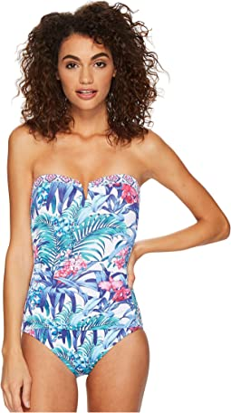 Tommy Bahama - Majorelle Jardin Bandeau One-Piece Swimsuit