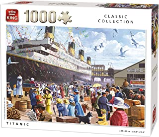 King Classic Collection Titanic 1000 pcs Puzzle - Rompecabezas (Puzzle Rompecabezas, Historia, Adultos, Geen, Hombre/Mujer, 8 año(s))