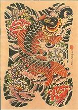 Japanse Ukiyoe Creatieve Tattoo Shabby Chic Retro Inkjet Printing Poster Frameless50X70Cm P511