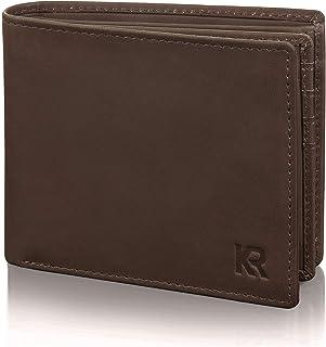 KRONIFY Portafoglio uomo bufalo portafoglio in pelle di bufalo in confezione regalo portafoglio uomo portafoglio uomo port...
