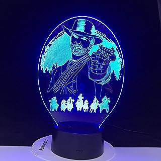 Red Dead Redemption Chambre Décor Usb Veilleuse Lamparas Pour Cadeau De Noël Décor À La Maison Accessoires 3D Lampe À Led