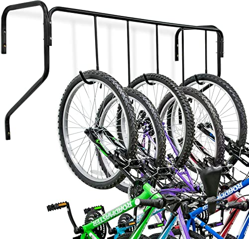 high quality RaxGo outlet online sale Garage Bike Rack, Wall Mounted Bicycle Storage Hanger, 5 Adjustable Hooks Universal for outlet online sale Indoor & Home Use sale