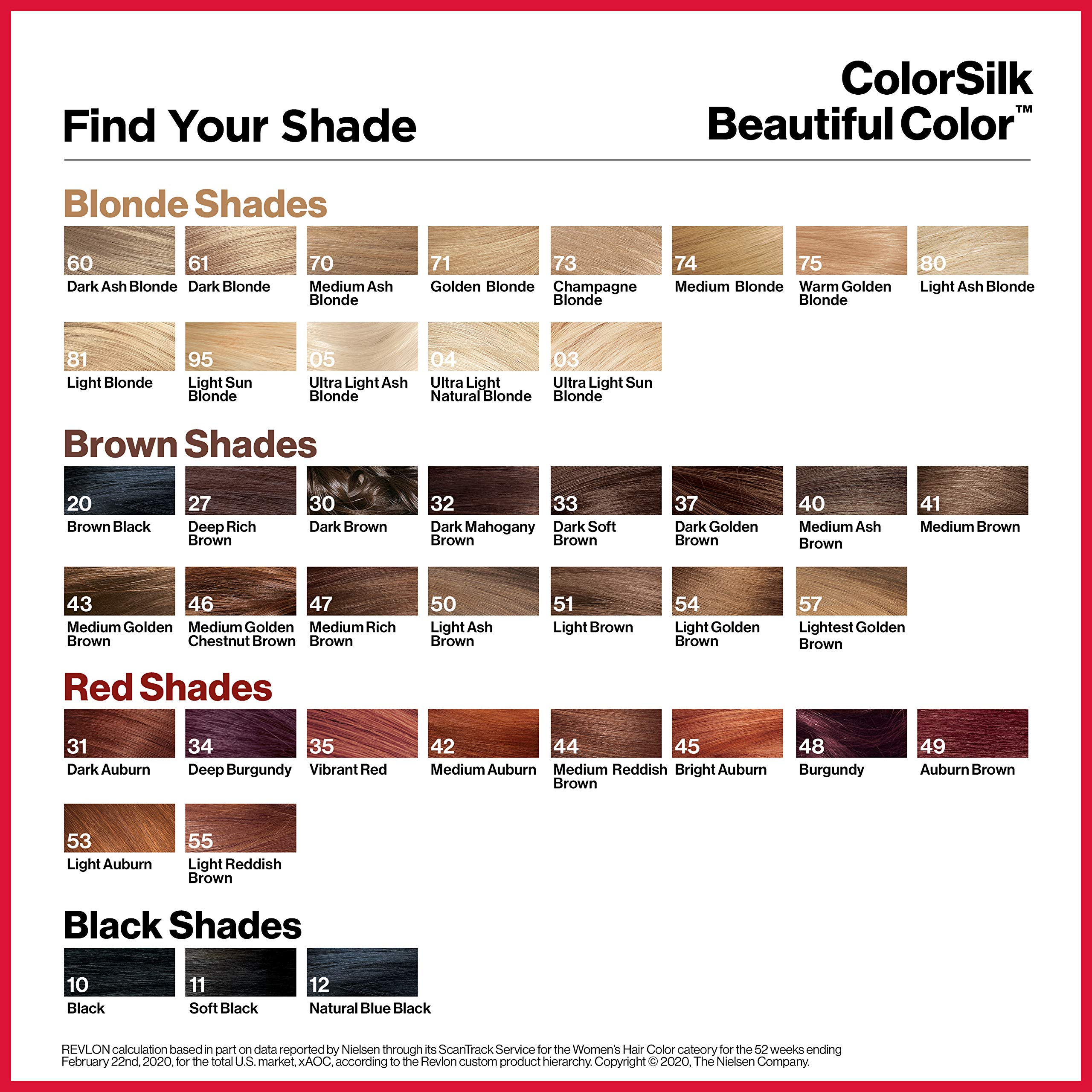 REVLON Colorsilk Beautiful Color Permanent Hair Color with 3D Gel Technology & Keratin, 100% Gray Coverage Hair Dye, 49 Auburn Brown, 4.4 oz (Pack of 3)