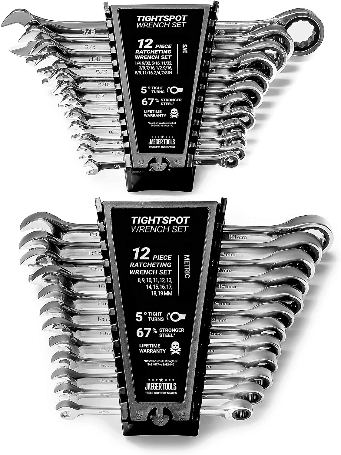 24pc IN MM TIGHTSPOT Free shipping on posting reviews Tampa Mall Ratcheting Wrench MASTER - SET Includin Set