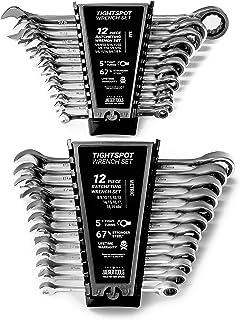 24pc IN / MM TIGHTSPOT WRTCHP Wrench MASTER مجموعه - اینچ و متریک با آچار دستی دسترسی سریع - استاندارد ما در آچار ترکیبی مجموعه ای از دنده تا نوک