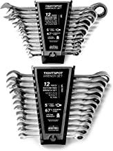 24pc IN/MM TIGHTSPOT Ratcheting Wrench Set – MASTER SET Including Inch & Metric..