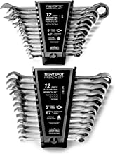 24pc IN/MM TIGHTSPOT Ratchet Wrench MASTER SET - Inch & Metric With Quick Access Wrench Organizer - Our standard in combination wrench sets from gear to tip