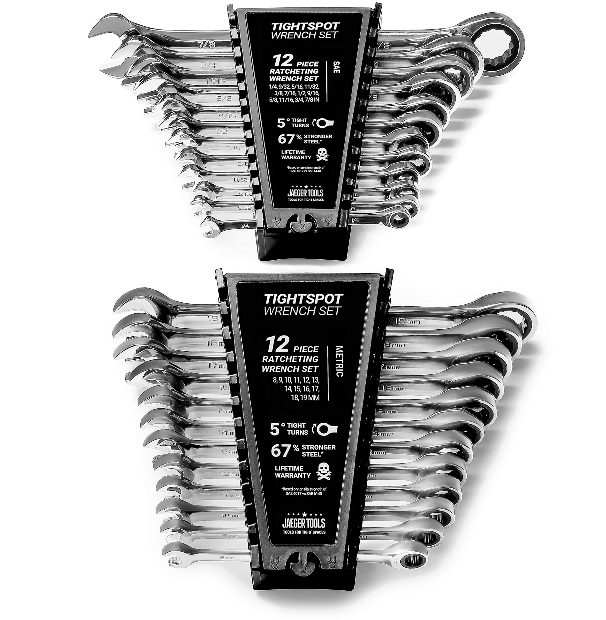 24pc TIGHTSPOT Ratchet Wrench MASTER