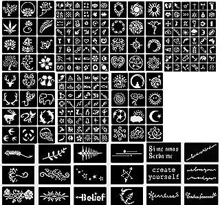 Tattoo Stencil - Various patterns - New Henna Designs- Set of 10